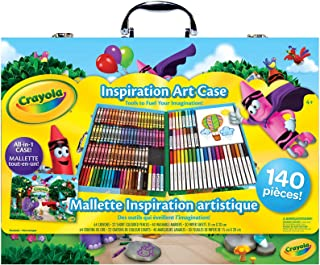 Crayola Inspiration Art Case; 140 Art Supplies, Crayons, Gift for Boys and Girls, Kids, Adults, Ages 3,4, 5, 6, and Up, Ar...