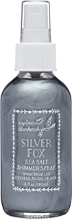Captain Blankenship Silver Fox Sea Salt Shimmer Hair Spray with Natural Silver Mica, Texturizing and Volumizing, Organic, Paraben Free, Sustainable Packaging, 4 Ounce Spray Bottle, 1 Count