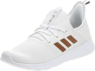 Adidas Cloudfoam Pure Heathered Nylon Mesh Side-Stripe Running Athletic Shoes with Double Pull-Tab for Women