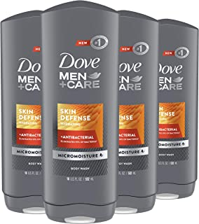 Dove Men+Care Body Wash For Smooth and Hydrated Skin Care Skin Defense Effectively Washes Away Bacteria While Nourishing Your Skin 18 oz, 4 Count