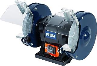FERM BGM1019 Tafelslijpmachine 150W - 150mm - inclusief P36 en P60 Slijpstenen, Veiligheidsbril en Vonkenvanger
