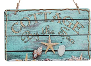 Cottage By The Sea Rustic Sign With Starfish Decor Sign (10