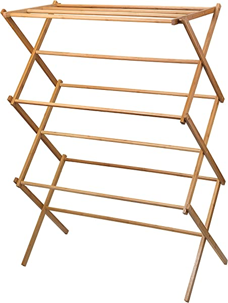 Home It Clothes Drying Rack Bamboo Wooden Clothes Rack Heavy Duty Cloth Drying Stand