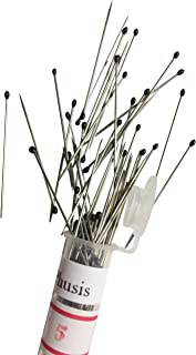 Phusis Stainless Steel Insect Pins - Size #5 - Set of 100 - for Entomology, Dissection and Butterfly Collections (#5)
