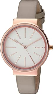 Skagen Women's Ancher Watch in Rose Goldtone with Leather Strap