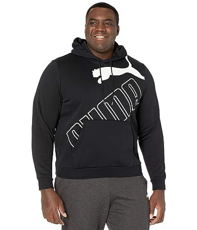 PUMA Big Tall Big Logo Hoodie Fleece (PUMA Black) Men