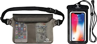 Freegrace Waterproof Pouch with Waist/Shoulder Strap & Phone Case - Keep Your Phone and Valuables Dry and Safe - Waterproof Dry Bags Bundle for Boating Swimming Snorkeling Kayaking Beach Water Parks
