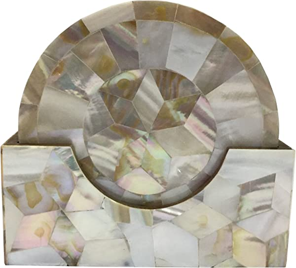 Trend Decorative Mother Of Pearl Coaster Set MOP Coaster Gift Item Home Decor Corporate Gift Unique Coaster White MOP