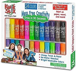 The Pencil Grip Kwik Stix Tempera Paint, Classic, Assorted 24 per Set