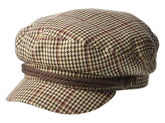 1960s – 70s Style Men's Hats Brixton Fiddler KhakiBrownCream Traditional Hats $42.00 AT vintagedancer.com