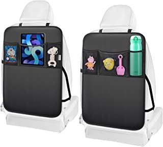 Meolsaek Kids Kick Mats – Back Seat Protector, Waterproof and Stain Resistant, Sag Proof, Car Back Seat Cover with Pockets...