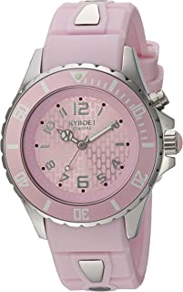 KYBOE! Power Stainless Steel Quartz Watch with Silicone Strap, Purple, 20 (Model: KY.40-041.15