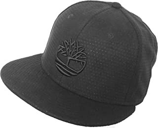 Perforated Faux Suede Flat Brim Hat Snapback