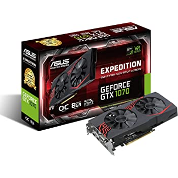 ASUS EX-GTX1070-O8G - Tarjeta gráfica (NVIDIA GeForce GTX 1070 ...