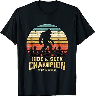 Hide and Seek World Champion T-Shirt Bigfoot Retro Vintage