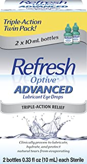 Refresh Optive Advanced, 0.33 Fl Oz (2 Count)