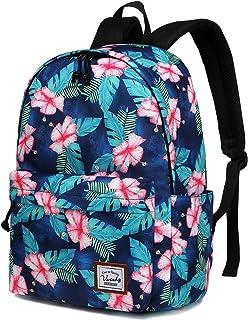 Backpack for Women,VASCHY Water Resistant High School Girls Bookbag Travel Backpack for Teens with Water Bottle Pockets