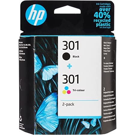 HP N9J72AE 301 Original Ink Cartridges, Black and Tri-Colour, Multipack