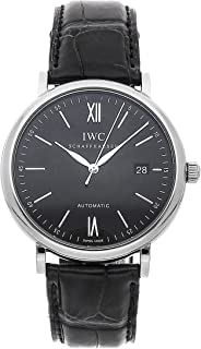 IWC Portofino Mechanical (Automatic) Black Dial Mens Watch IW3565-02 (Certified Pre-Owned)
