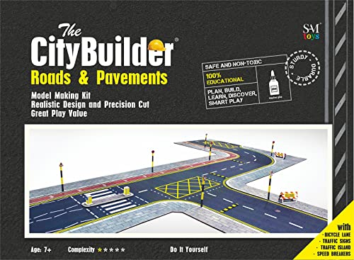 The CityBuilder Roads and Pavements Model Making Kit 1:43 scale, 7mm (Grey)