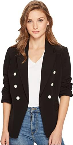kensie - Smooth Stretch Twill Blazer KSNK2253