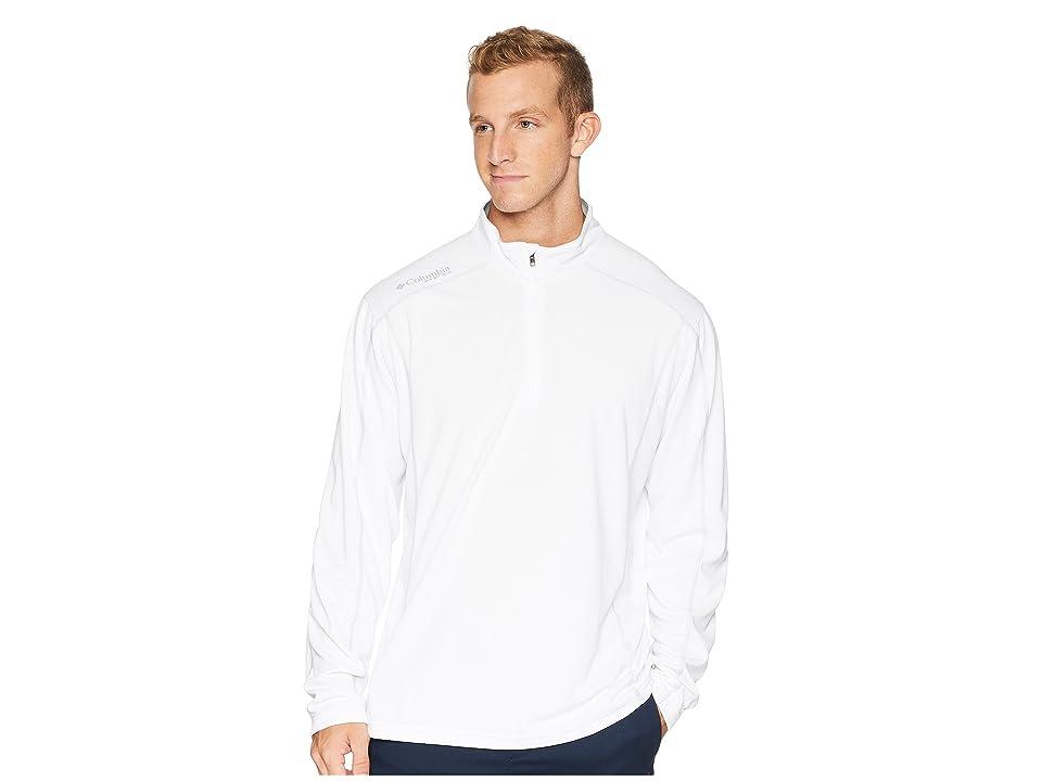 Columbia Low Drag 1/4 Zip Top (White) Men