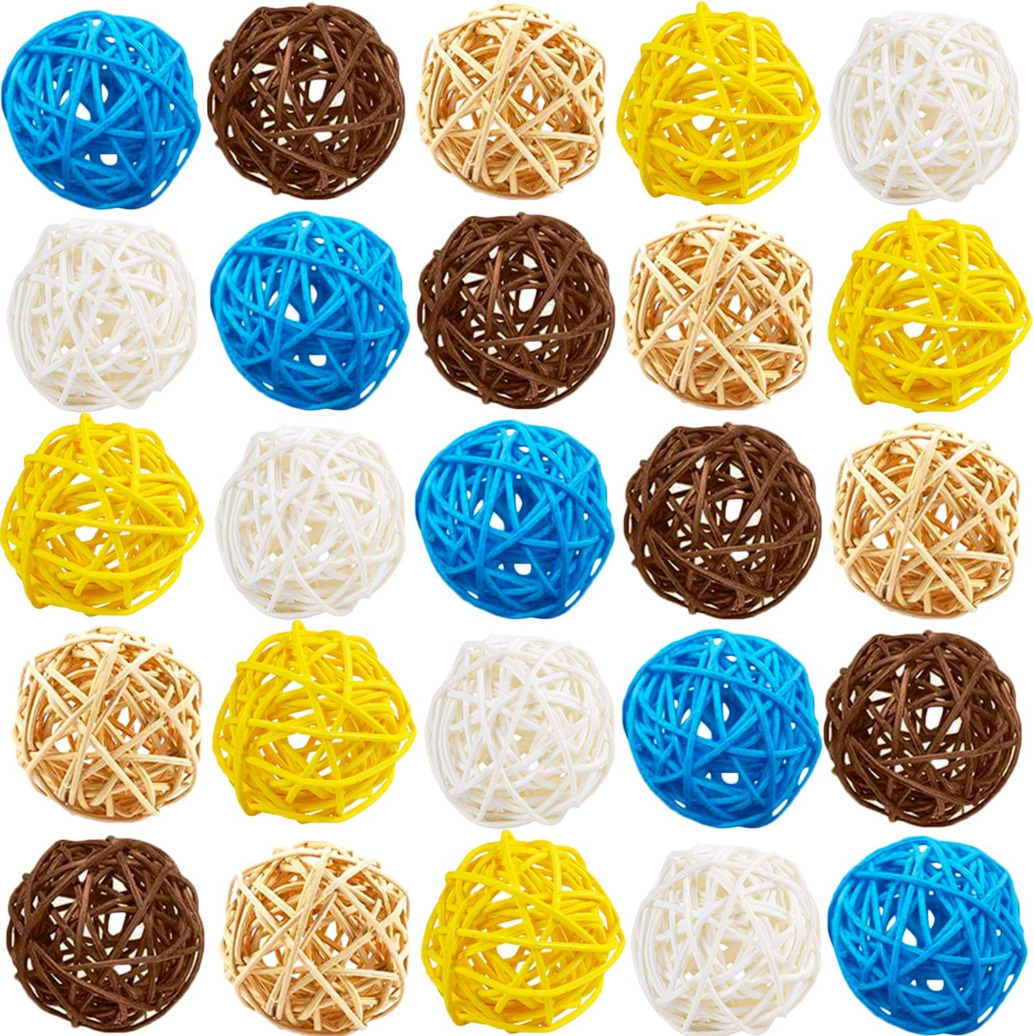 25 Pack Weekly update 2 Inch Wicker Balls Rattan Topics on TV Aromatherapy Decorative Ball