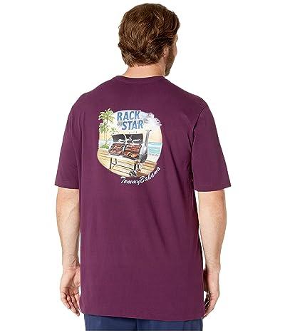 Tommy Bahama Big & Tall Big Tall Rack Star T-Shirt (Rum Berry) Men