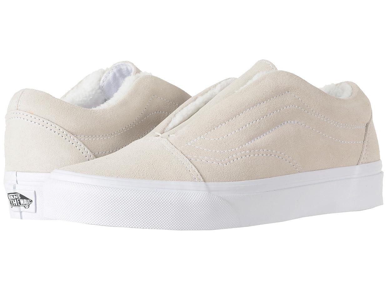日帰り旅行に連結するパール(バンズ) VANS メンズスニーカー?靴 Old Skool Laceless HG (Suede) Fleece/True White Men's 5, Women's 6.5 (23cm(レディース23.5cm)) Medium