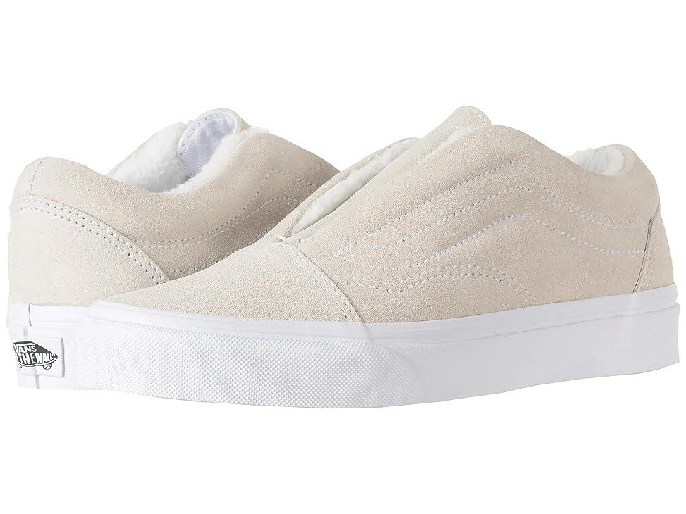 延ばす救い雇用(バンズ) VANS メンズスニーカー?靴 Old Skool Laceless HG (Suede) Fleece/True White Men's 4.5, Women's 6 (22.5cm(レディース23cm)) Medium