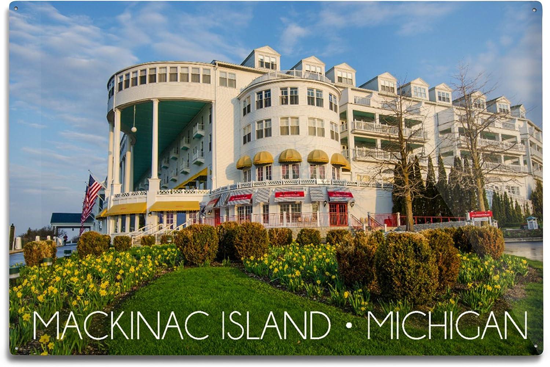 Amazon Com Mackinac Island Michigan Grand Hotel 24x36 Giclee Gallery Print Wall Decor Travel Poster Posters Prints