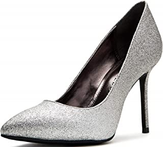 حذاء نسائي من Katy Perry مطبوع عليه The Sissy Pump, Gunmetal Multi, 9