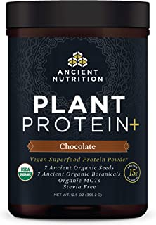 Plant Protein+, Plant Based Protein Powder, Chocolate, Formulated by Dr. Josh Axe, Fusion of Organic Seeds & Botanicals Br...