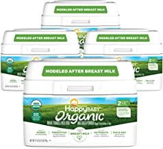 Happy Baby Organic Infant Formula Milk Based Powder with Iron, Stage 2, 21 Ounces, 4 Count(Packaging May Vary)
