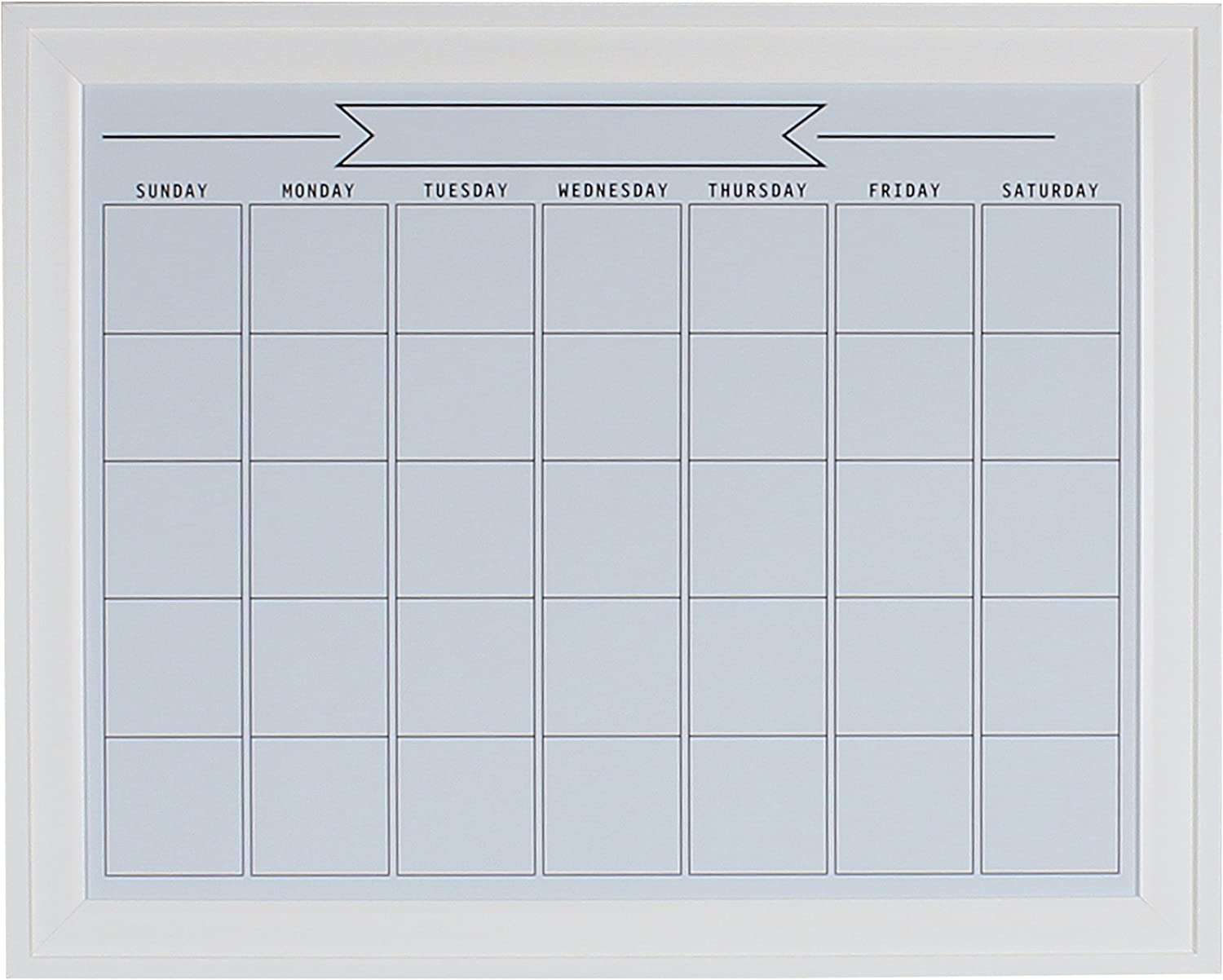 DesignOvation 209407 Bosc Surprise Max 42% OFF price Framed Magnetic Dry Monthly Erase Cale