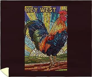 Lantern Press Key West, Florida - Rooster Mosaic 48197 (88x104 King Microfiber Duvet Cover)
