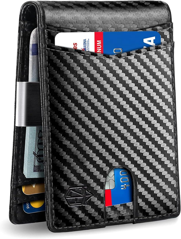 Zitahli Minimalist Slim Bifold RFID Blocking Mens Wallet $8.83 Coupon