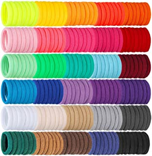Isbasa 300pcs Baby Hair Ties, Elastic Hair Bands Soft Scrunchies for Toddlers Infants, Small Rubber Bands for Kids Baby Gi...