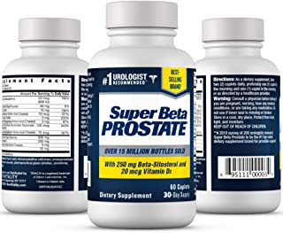 Super Beta Prostate Urologist Recommended Prostate Supplement for Men - Reduce Bathroom Trips Day & Night, Promote Sleep, ...