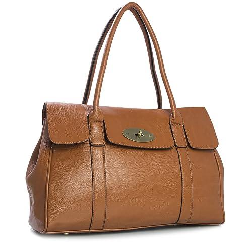 f946c6cc13c Tan Leather Handbag: Amazon.co.uk
