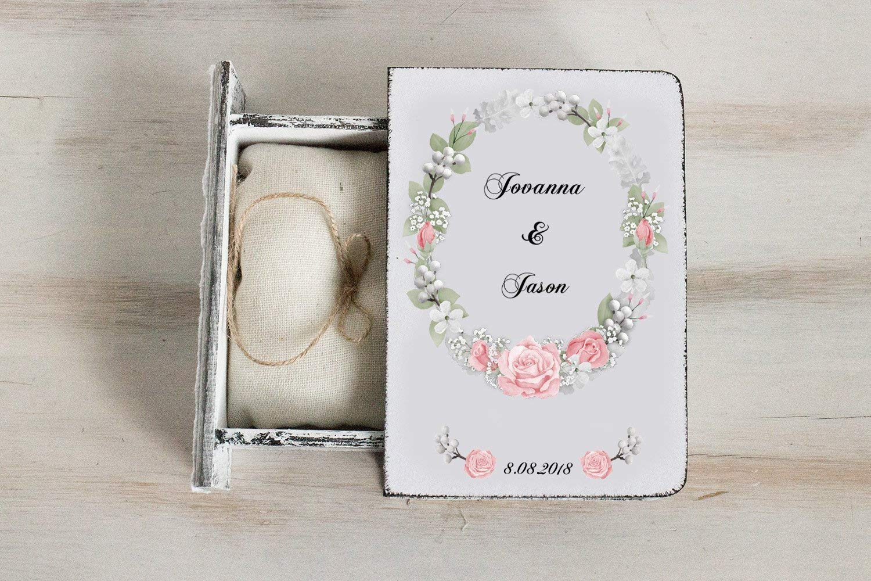 White ring box Personalized Las Vegas Mall wedding Weddi bearer Some reservation Ring