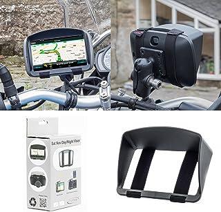 Solskärm för motorcykel satellit Nav Garmin Zumo TomTom Rider BMW etc med en skärm med GPS-keps med säker och robust desig...