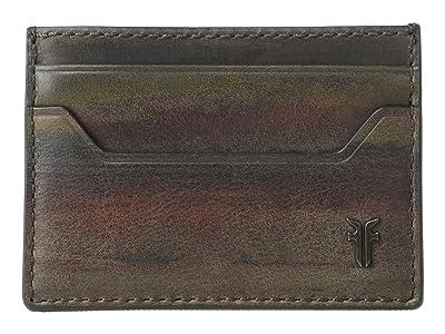 Frye Austin Card Case (Dark Multi) Handbags