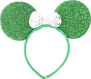 Micky Minnie Mouse orejas, diadema, disfraz, GREEN} Noche de despedida de soltera