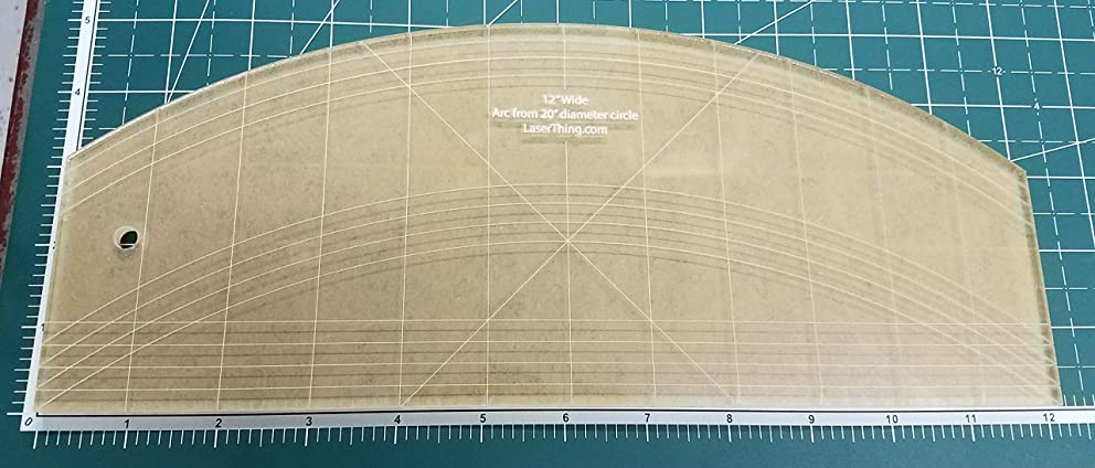 Long Arm Arc Straight Edge Quilting Template Ruler 1/4