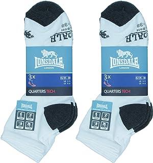 Quarter Tech 6 pares de calcetines ideales para trekking, tenis, ciclismo, excelente calidad de algodón