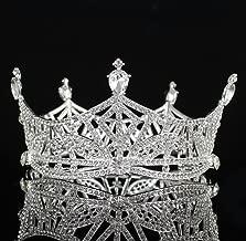 Janefashions Miss America Crown Austrian Rhinestone Crystal Hair Tiara Pageant T1299