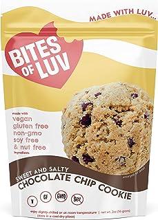 Bites of Luv Vegan Gluten Free Cookies, Soy Free, Nut Free, Dairy Free, Chocolate Chip, Oatmeal Raisin, Oatmeal Chocolate ...