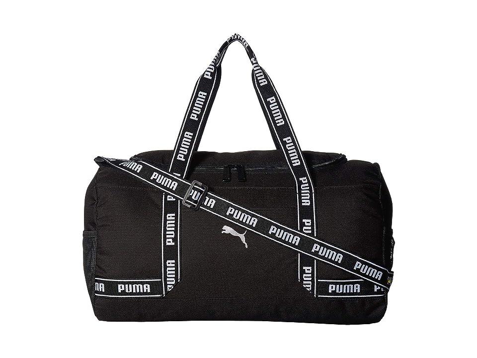 PUMA Commute Duffel (Black/White) Duffel Bags