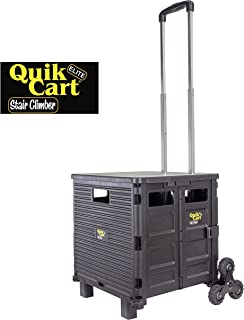 dbest products Quik Cart Elite Stair Climber Wheeled Rolling Crate Teacher Utility with..